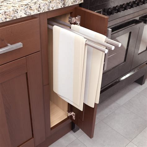 pull out 3 bar towel holder anodized aluminum 9000 0048