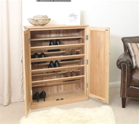 shoe furniture storage nara solid oak hallway patio furniture large shoe storage