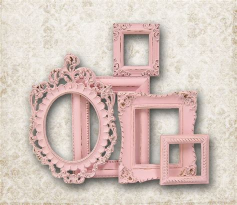 reserved for m shabby chic picture frame pastel pink picture