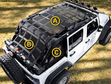 Jeep Wrangler Door Nets Jeep Wrangler 2 4 Door Cargo Nets Tauro