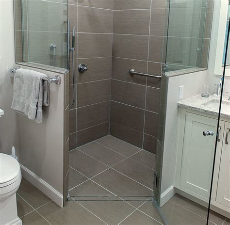 bathroom showers ideas pictures curbless shower build up not down fine homebuilding