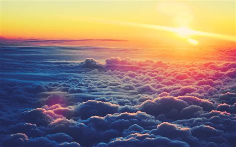 wallpaper for desktop sunrise 1440x900 sunrise above the clouds desktop pc and mac wallpaper