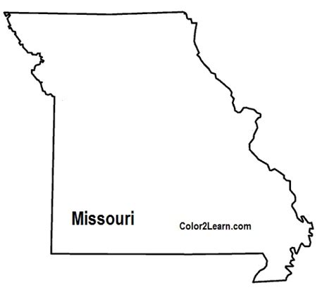 missouri state colors coloring map of missouri pictures to pin on