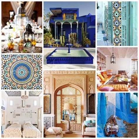 mood board moroccan style in interior design modern
