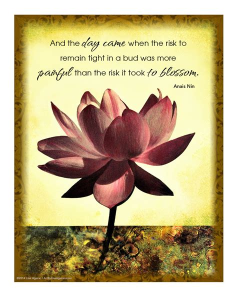 poem on lotus flower in lotus flower print with inspirational quote free shipping