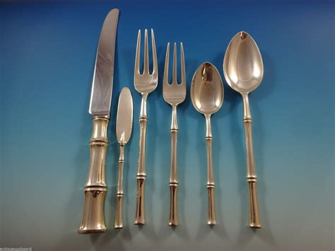 bamboo flatware bamboo by tiffany sterling silver dinner flatware set for