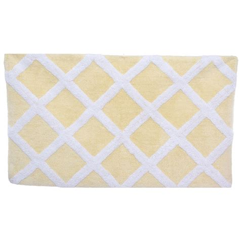 Yellow Bathroom Rugs Trellis Pale Yellow Bath Rug From Beddingstyle