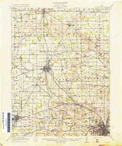 Topographical Map Of Ohio by Ohio Topographic Map