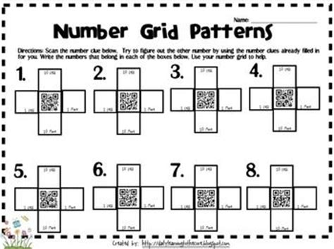 grid pattern numbers qr code 10 more less 1 more less qr codes numbers and