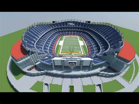 minecraft sports stadium minecraft megabuild sports authority field stadium