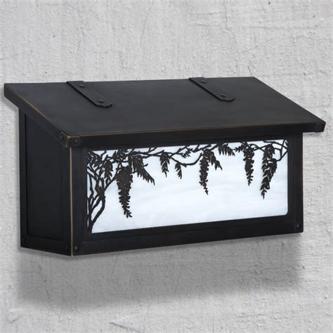 Decorative Wall Mount Mailboxes by Wisteria Horizontal Wall Mounted Mailbox Traditional