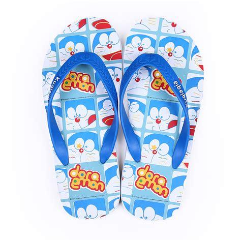 Promo Sandal Sancu Doraemon Termurah doraemon summer slippers plaid shoes blue slippers outdoor sandals
