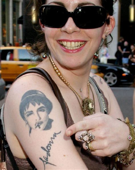 madonna tattoo wacky and woeful tattoos of photos