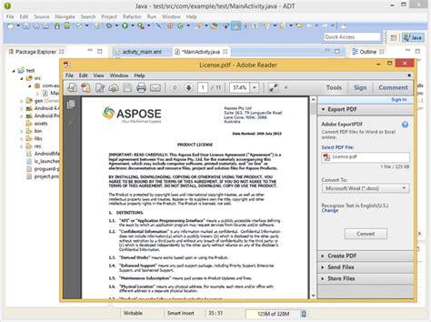convert pdf to word aspose java aspose pdf for android via java