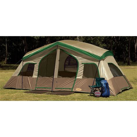 tent room texsport 174 sequoia pass 3 room cabin tent 204752 cabin tents at sportsman s guide