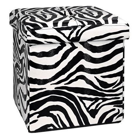 zebra print storage ottoman zebra storage ottoman ore international zebra storage