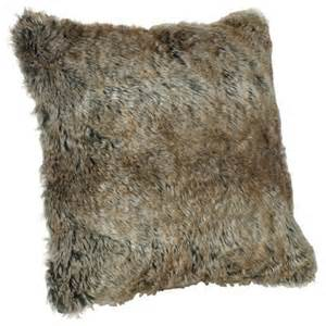 faux fur pillow arctic brown contemporary decorative