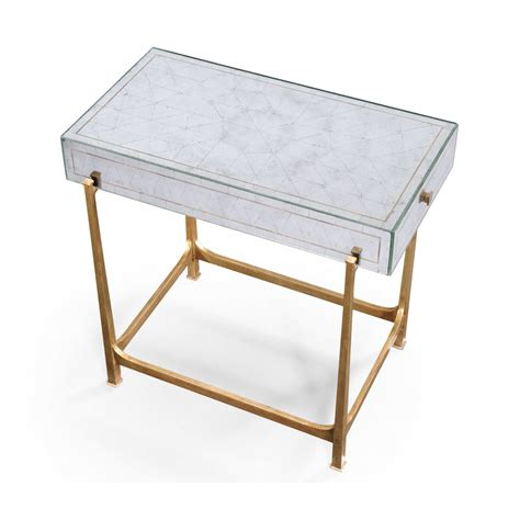 small glass side table gold swanky interiors glass side table gold mirrored furniture swanky interiors