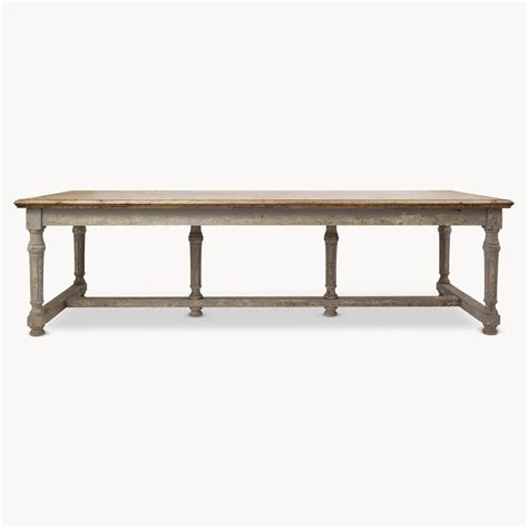 large dining room table images gallery gt gt large andalusia distressed dining table furniture la maison chic luxury interiors