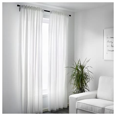 ikea cutains vivan curtains 1 pair white 145x250 cm ikea