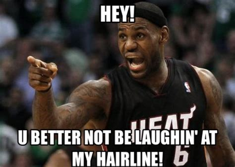 Lebron James Hairline Meme - the 50 meanest lebron james hairline memes of all time