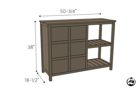 buffet table dimensions buffet table free diy plans rogue engineer
