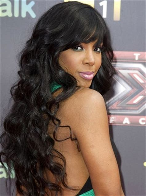 indian hairstyles bangs lace front wigs kelly rowland wavy indian remy hair with