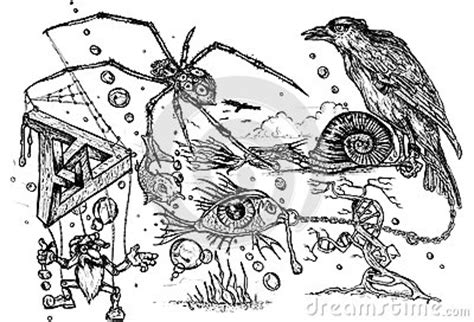 free doodle pen surreal doodle royalty free stock photos image 34823738
