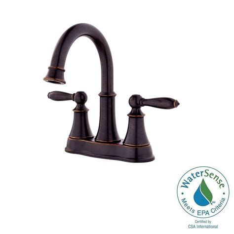 Arc Plumbing And Heating by Pfister Courant 4 In Centerset 2 Handle High Arc Bathroom