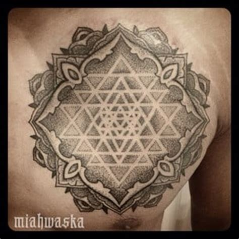 sacred tattoo oakland sri yantra dotwork mandala sacred geometry yelp