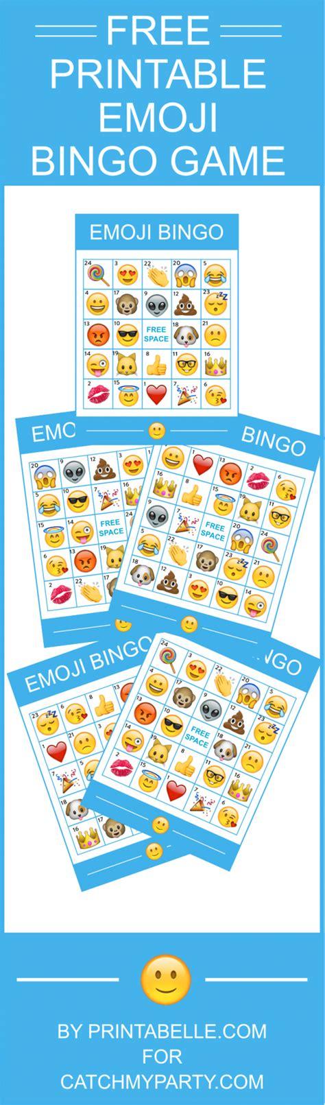 printable games bingo free printable emoji bingo game comes with 8 bingo