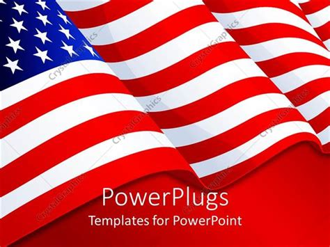 Powerpoint Template American Flag Patriotic Background With Stars And Stripes Red White And Patriotic Powerpoint Templates