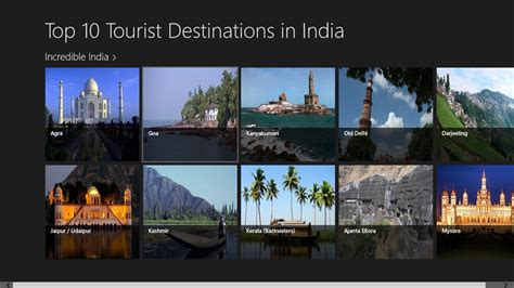 top 10 tourist destinations in india for windows 8 and 8 1