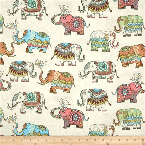 Elephant Patchwork Fabric - 50 140cm japanese vintage diy handmade fabric patchwork