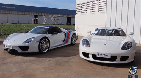 Porsche 918 Vs Carrera Gt porsche carrera gt vs porsche 918 drag race