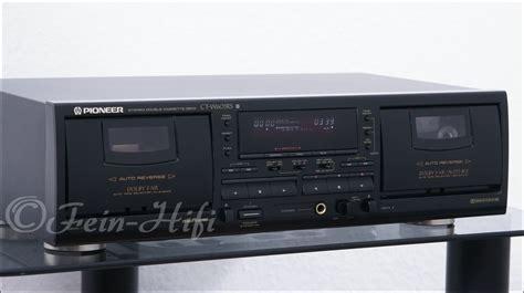wann schreibt das mit doppel s pioneer ct w603rs autoreverse doppel kassettendeck tapedeck
