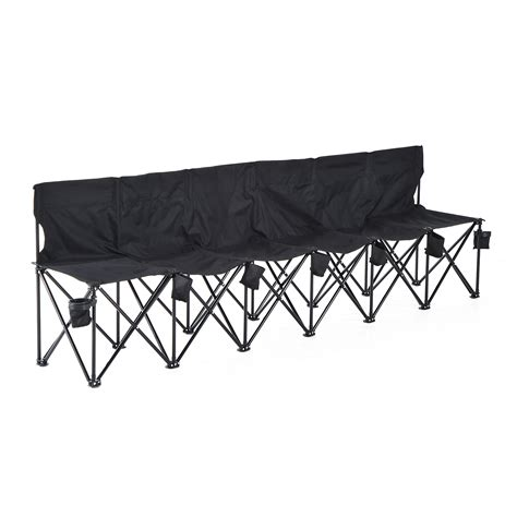 folding bench chairs portable 6 seats folding bench chair outdoor cing