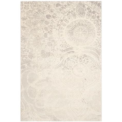 safavieh porcello rug safavieh porcello light grey ivory 8 ft x 11 ft 2 in area rug prl3742g 8 the home depot