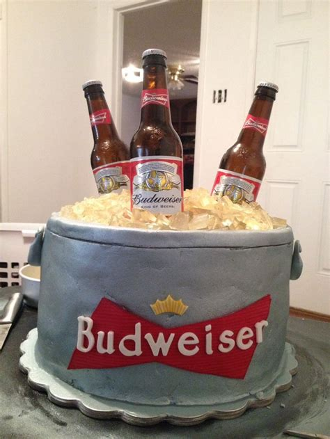 budweiser beer cake beer cooler cake cake ideas and designs