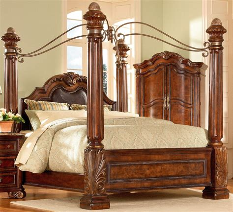 four poster bed with curtains antique wooden frames canopy