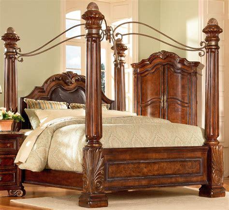 four poster bedroom sets four poster bedroom sets regal poster bedroom set 142156 cherry wood 4 poster bed
