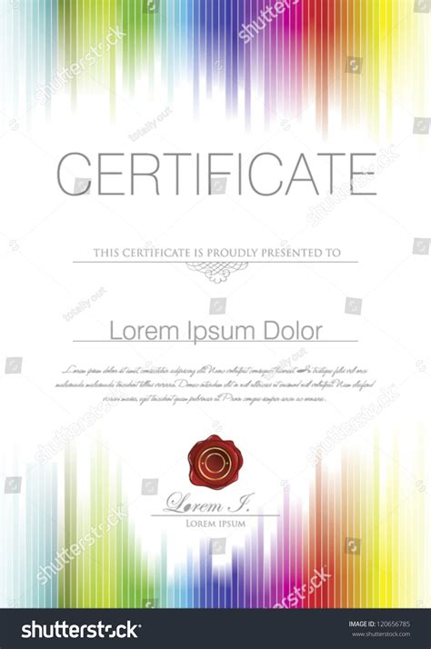 colorful certificate template colorful certificate template stock vector 120656785