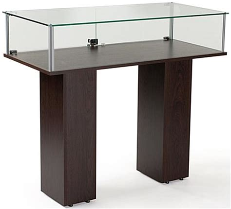 Commercial Jewelry Display Cabinet Commercial Display Glass Panels Wenge Veneer Finish
