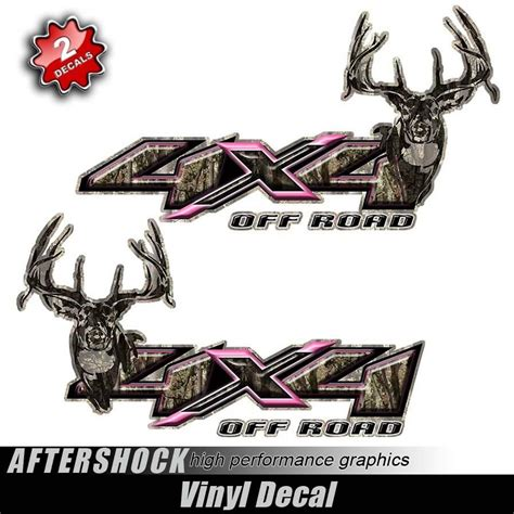 hunting truck decals pink camo 4x4 truck hunting decal sticker for my