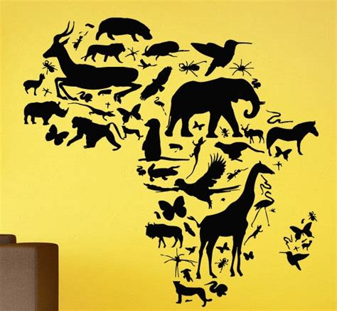 Aliexpress Home Decor by Aliexpress Com Buy African Animal Map Wall Decal Africa