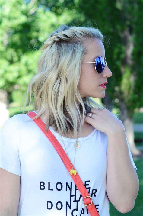 blonde hair dont care twist  pretty