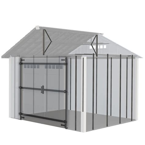 shed kits lowes shop homestyles steel storage shed high wind load kit at