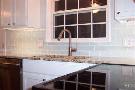 glass subway tile backsplash kitchen glass subway tile projects before after pictures