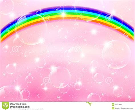 Rainbow Pink pink background rainbow stock photo image 29183840