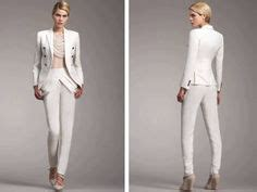 1000  images about Ladies White Pant Suit on Pinterest   White suits, Pant suits and White pants